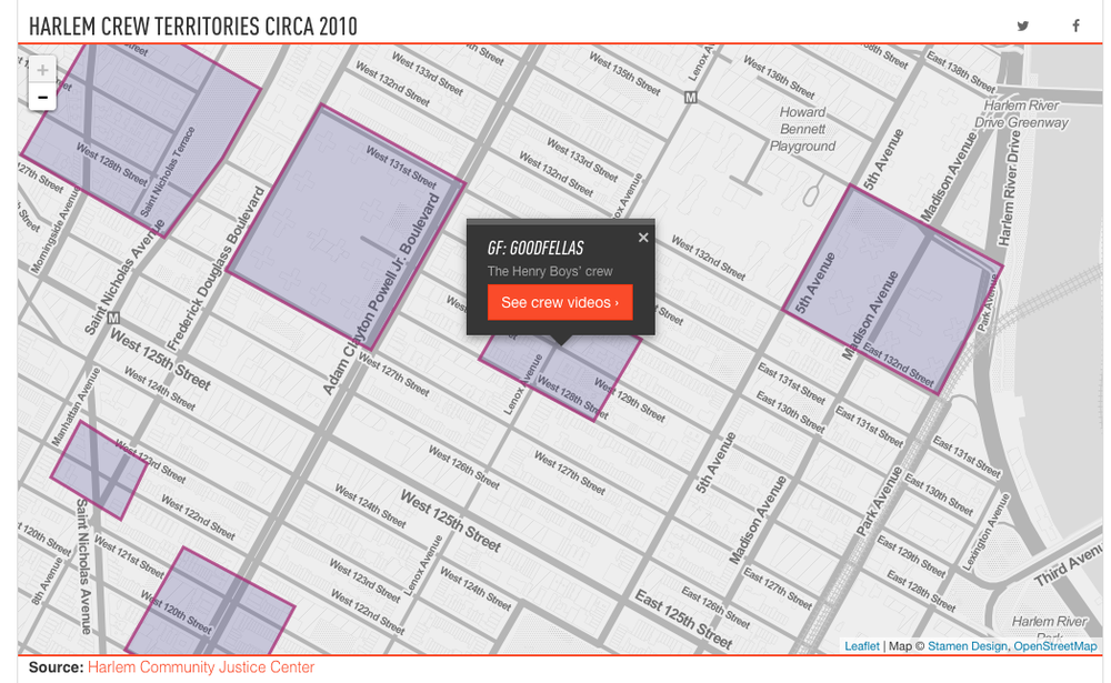 Harlem Gang Maps, The Verge