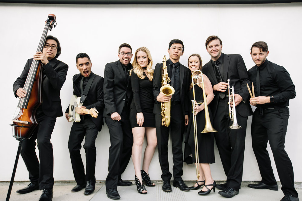 The Band - A group of friends who take our passion for music very seriously. Members of the band have performed in over 20 countries world wide and worked with countless acts including Britney Spears, Iggy Azalea, Sarah Silverman, The Platters, and the Tokyo Philharmonic Orchestra.