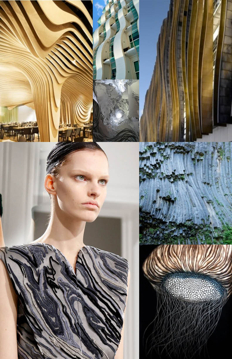 Organic lines in nature, fashion and architecture
