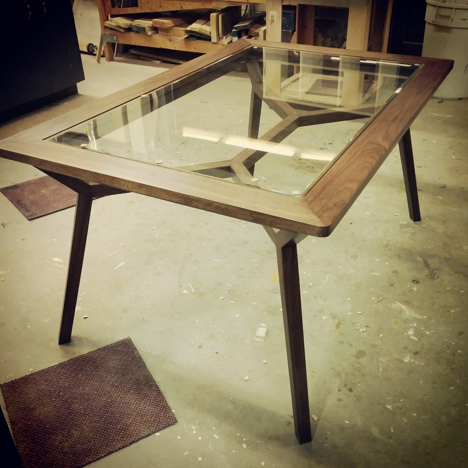 Telaio Table: collaborative project with designer Kevin Jones