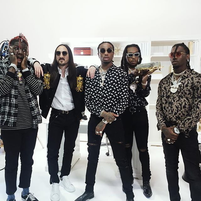 we made a video with these dudes about how when the #nightcall you better answer or the moon is gonna leave you passive aggressive voicemails @lilyachty @quavohuncho @offsetyrn @yrntakeoff @steveaoki #kolony