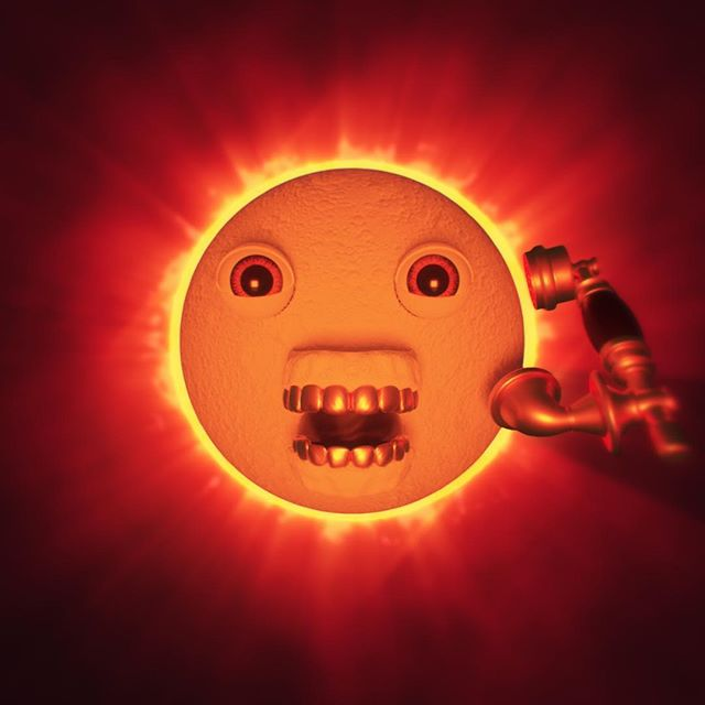 yesterday was fuckin weird  #solareclipse #nightcall #oursandyours #steveaoki #kolony