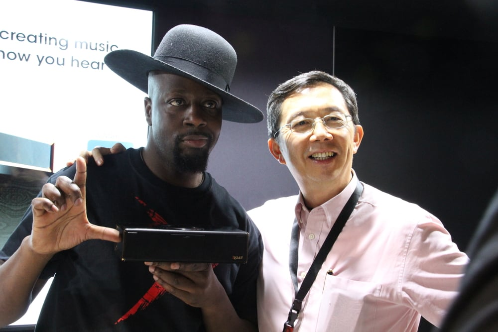 Wyclef Jean, with Sim Wong Hoo, Founder of Creative Technology