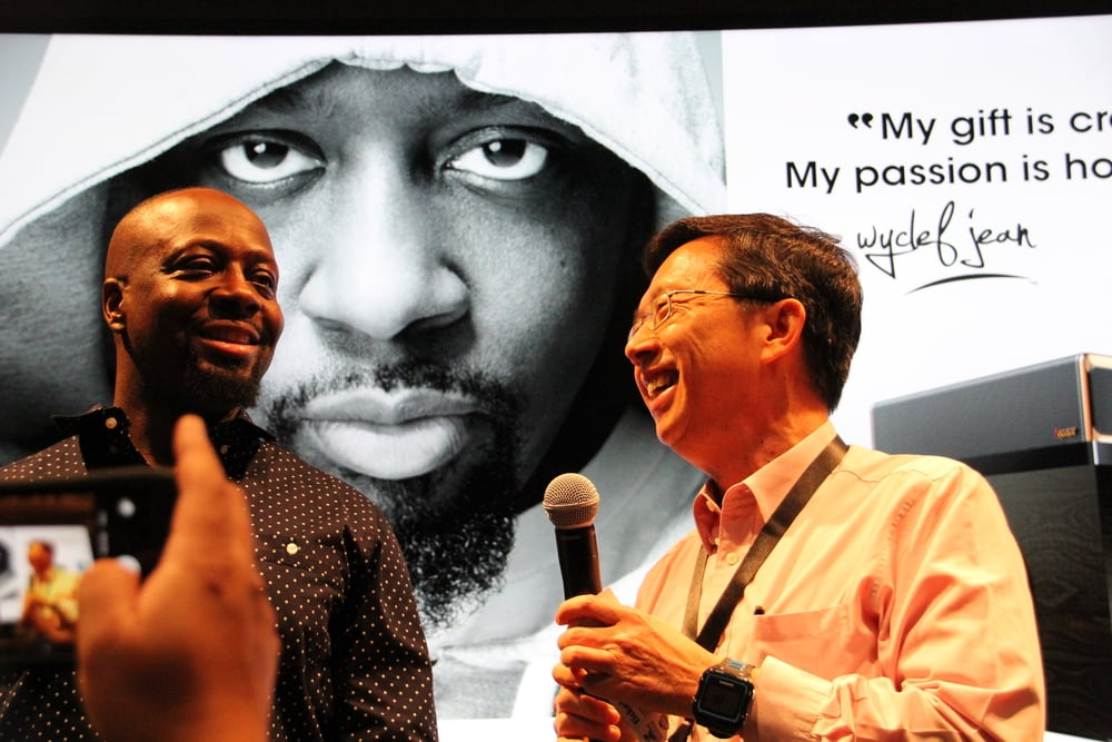 Multi-platinum, Triple-Grammy Award Winning Artist with Sim Wong Hoo, the Founder of Creative Technology
