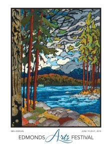 "2015 Edmonds Arts Festival Poster "" Puget Sound Sighting""  by Brett Varney"