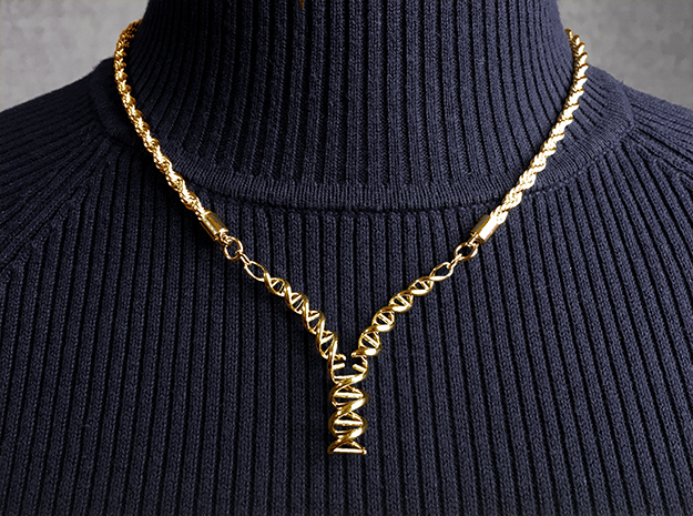 Replicating DNA Necklace (Gold)