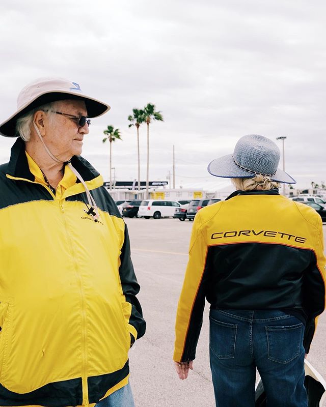 """We have two yellow corvettes. His and hers."" #Rolex24 #CorvetteRacing #IMSA"