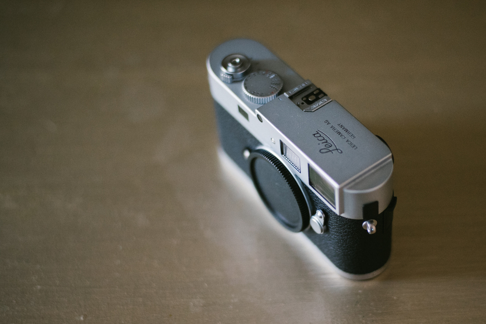 My old M9-P with gorgeous top plate only branding. I wish Leica had options for a less branded camera like this one.