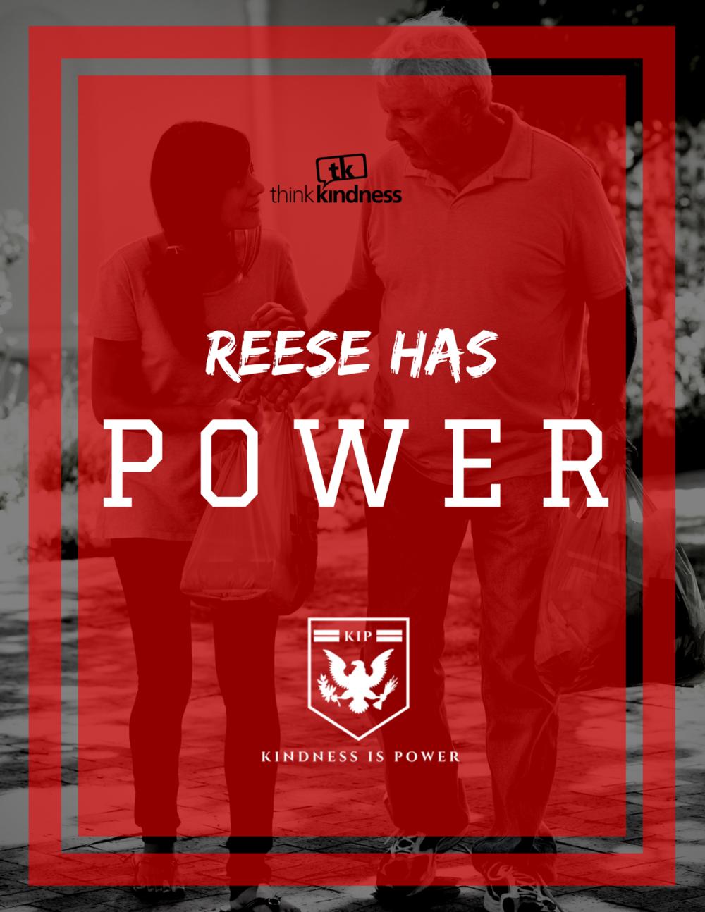 "REESE HAS POWER - 8.5"" x 11"""