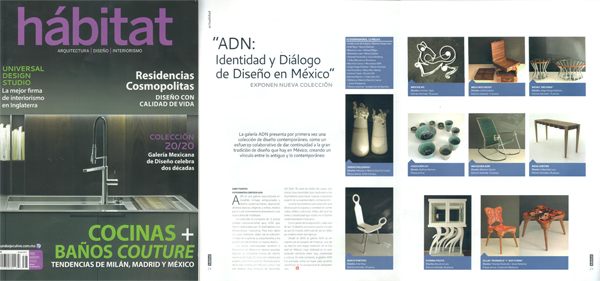 "Mesas Arcanas published at Habitat Mexico's Habitat magazine has published a feature of the ""Identity and dialogue of design in Mexico"" exhibition at ADN Gallery where I participated with Mesas Arcanas. More information on the project here."
