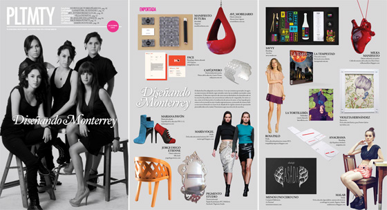 Plataforma: Designing Monterrey    This months edition of Plataforma Monterrey features Ictali in a spread dedicated to creative studios based in the city. I am excited to be part of this design special together with other young projects that range from graphic, branding and editorial design, to fashion and industrial design.     More about this article in the Press section