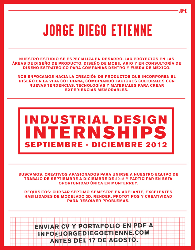 Industrial Design Internships at the studio!