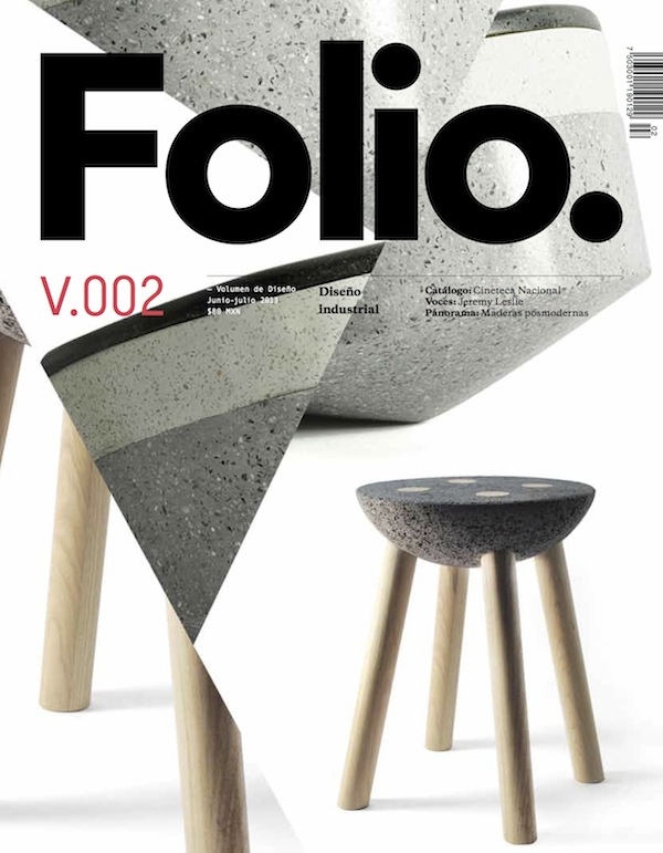 Panoramica on the cover of Folio        Our basaltic stool has been published the cover of Folio's Design Magazine. It looks great!           Get to know Panoramica here.