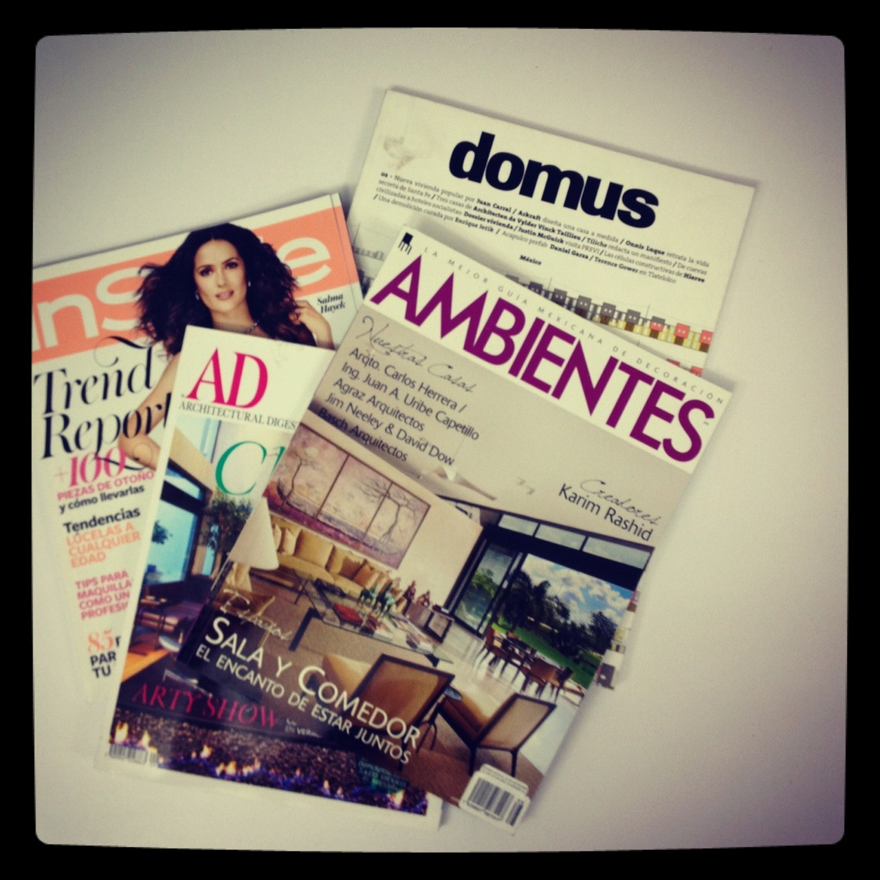 September has us all over the press! We've been getting a lot of attention on the press this past few weeks with several projects featured in magazines and blogs all over the world. We would like to thank Architectural Digest, Ambientes, InStyle, Domus and DeZeen for publishing our projects Cages, Sultanas and the First Object for Casa Bosques. View the articles on our press section.