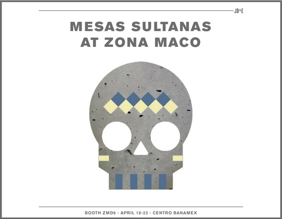 "See you at Zona Maco    We are excited to present our latest project ""Mesas Sultanas"" for Galería ADN during this week's  Zona Maco  Art & Design Fair in Mexico City. This marks the second time we collaborate with ADN, who invited design curator Regina Pozo to prepare this special presentation. Besides our Mesas Sultanas, ADN will present new pieces from Sebastian Lara, Perla Valtierra and Adriana Díaz de Cossío. Don't miss out this great event and drop by ADN's booth to check out our new design!"