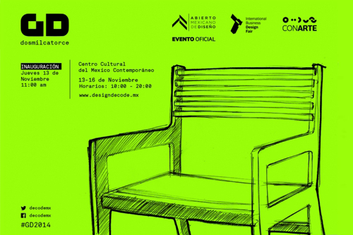 The exhibition Generación DECODE 2014 has travelled from Monterrey to Mexico City to participate at the AMD. GD is an exhibition of the best graduating students from design schools in Monterrey which JD organizes this project as part of Designaholic and in collaboration with Toc Toc.     Inauguration Thursday 13 Nov. 11:00 AM   Centro Cultural Mexico Contemporáneo   Leandro Valle 20 (Ingreso por Atrio Santo Domingo)   Centro Histórico de la Ciudad de México   Event