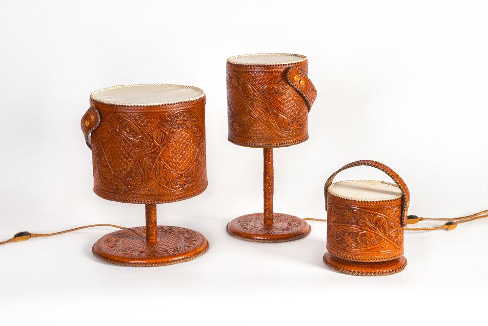 CHISELED LEATHER LAMPS Museo de Arte Popular 2014
