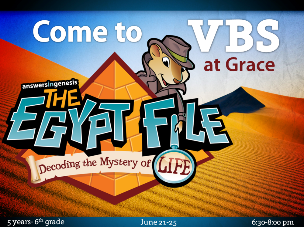 Come to VBS this week!...