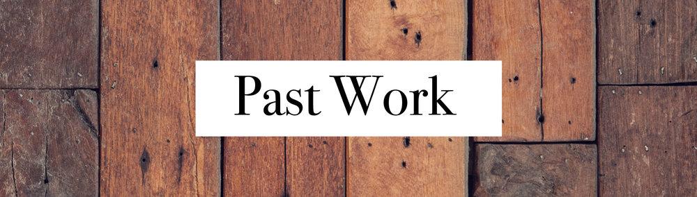 Past work and portfolio