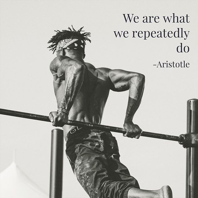 The idea of using habits to create the person you want to be goes further back than #aristotle