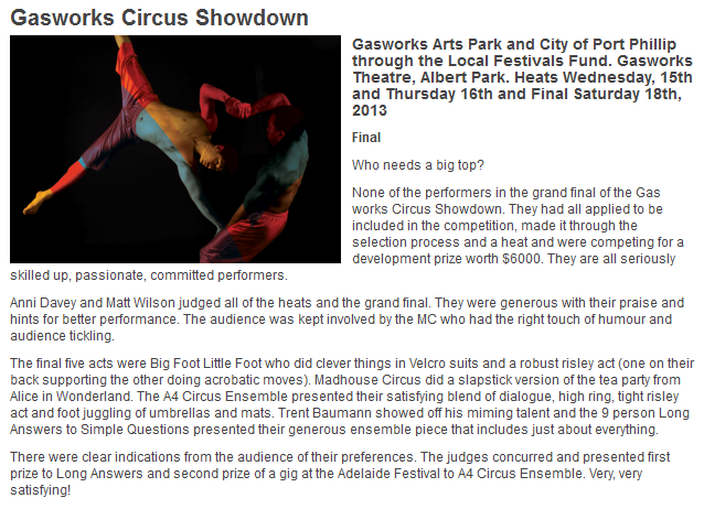 Gasworks Circus Showdown_Long Answers to Simple Questions_LEFT
