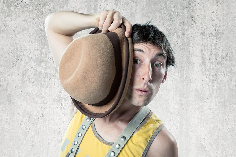 """""""As if this all weren't enough, there are individual standout acts, including Tom Davis, who performs a charming hat-juggling trick""""    - Terry Byrne, Boston Globe"""