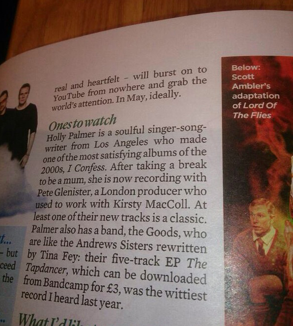 """Ones To Watch"" -The Mail on Sunday, January 4, 2014"