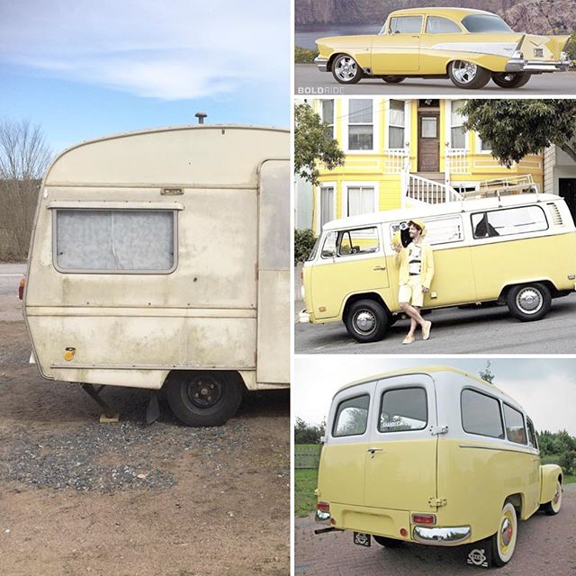 I'm thinking white and yellow for this one... #restoration #vintagecaravan #colorinspiration #yellow #gultärintefult #retro