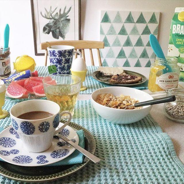 God morgon! ☀️ #retrohusetköket #bedandbreakfast #frukost