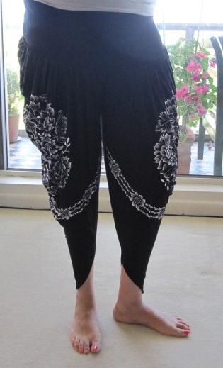 Black & White Print Harem Pants