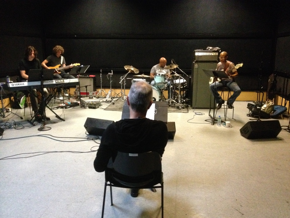 With Tony Visconti, Steve Ferrone, Gail Ann Dorsey and Henry Hey @ SIR studios