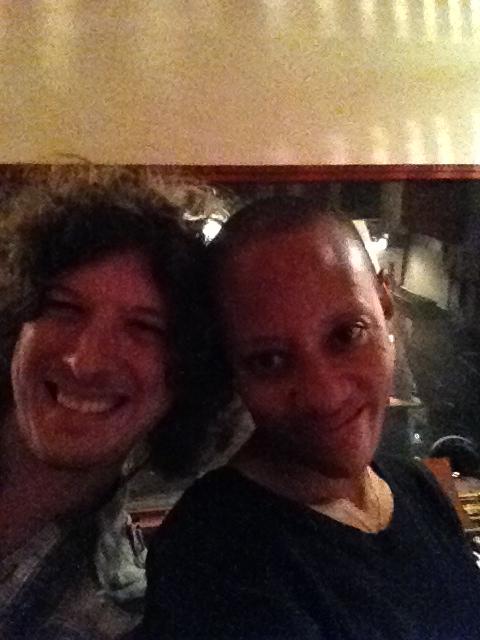 With Gail Ann Dorsey
