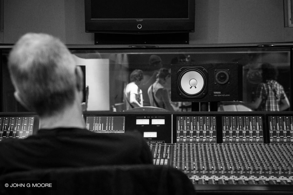 Recording with the Jim Stapley Band @ Dean St Studios with Tony Visconti