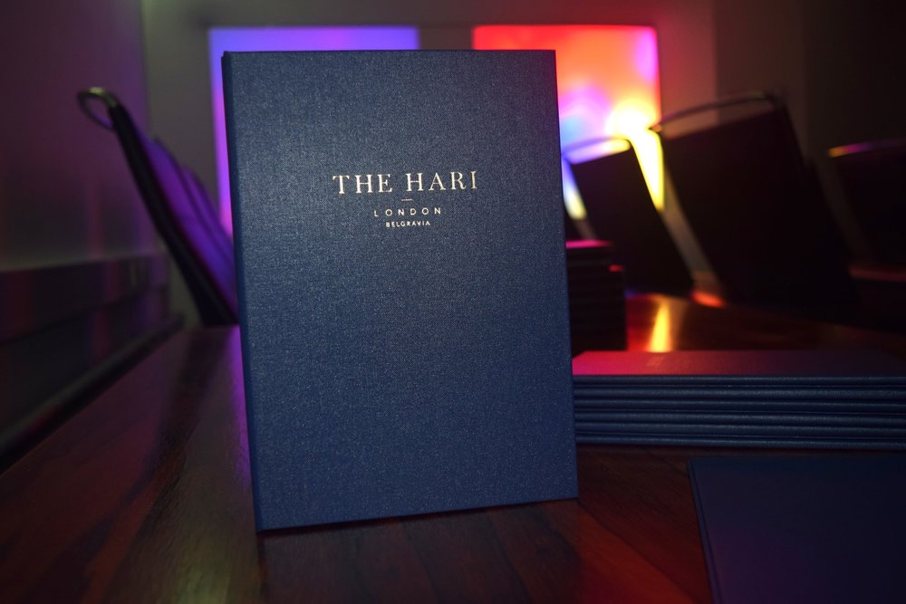 The Hari Menu Covers London