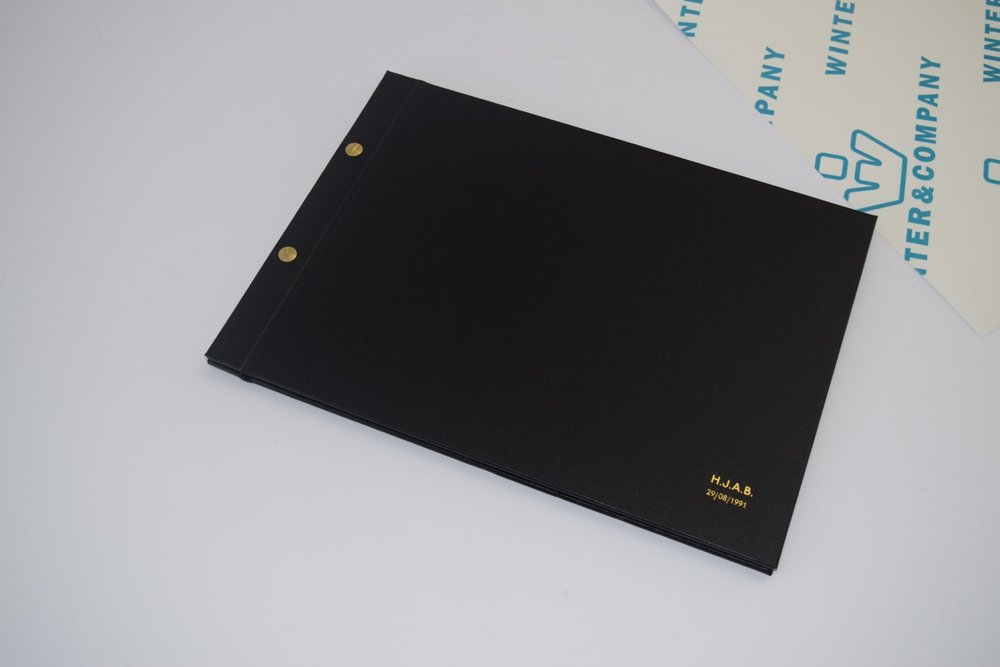 Black Buckram - Screwpost Folder