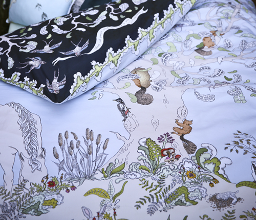 IMAGE 8: Close up of Dayland side of Enchanted Forest Duvet Photo Credit: Lark Rise Pictures for Forivor