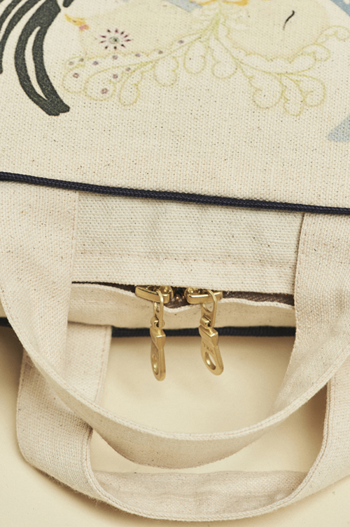 Close up of the sturdy zip on the Forivor suitcase which could be used as a first sleepover bag or for play. Credit: Jon Gorrigan