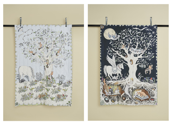 Forivor's Enchanted Forest Reversible Quilted Blanket is perfect as a first playmat or as a luxurious blanket for delicate young skin. Credit: Jon Gorrigan