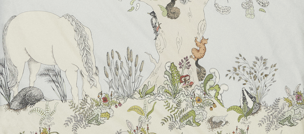 Detail of the Dayland side of Forivor's Enchanted Forest Duvet Set Credit: Jon Gorrigan