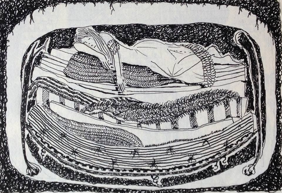 Alice's Princess and the Pea Illustration from the archives - so beautiful and apt for today!