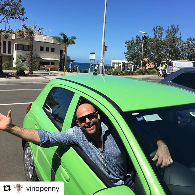 Great to spend some time with @vinopenny and the crew in The Gong - thanks! #Repost @vinopenny ・・・ Farewell & thank you to the awesome Sam Scott from @scottandlaprova loving the Snot green rental 🤣 #boutiquewine  #italianvarieties  #scottandlaprova  #supportingthelocals  #illawarra