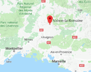 Vaison la Romaine map.png