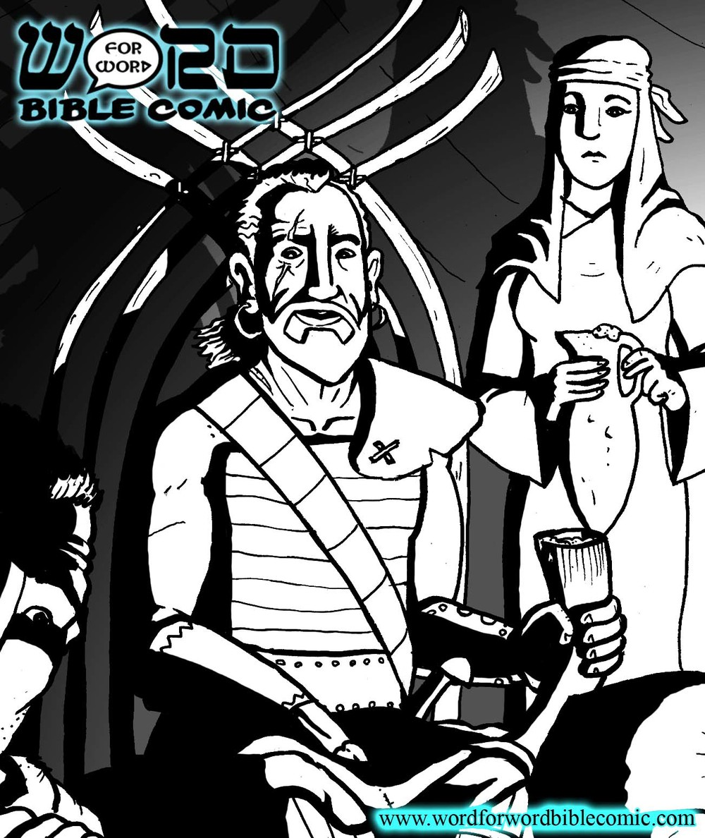 Preview of Jephthah from the Word for Word Bible Comic