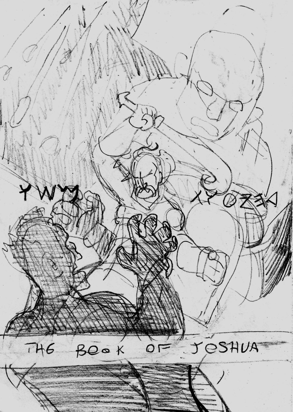 Early idea, Joshua fights Anakim