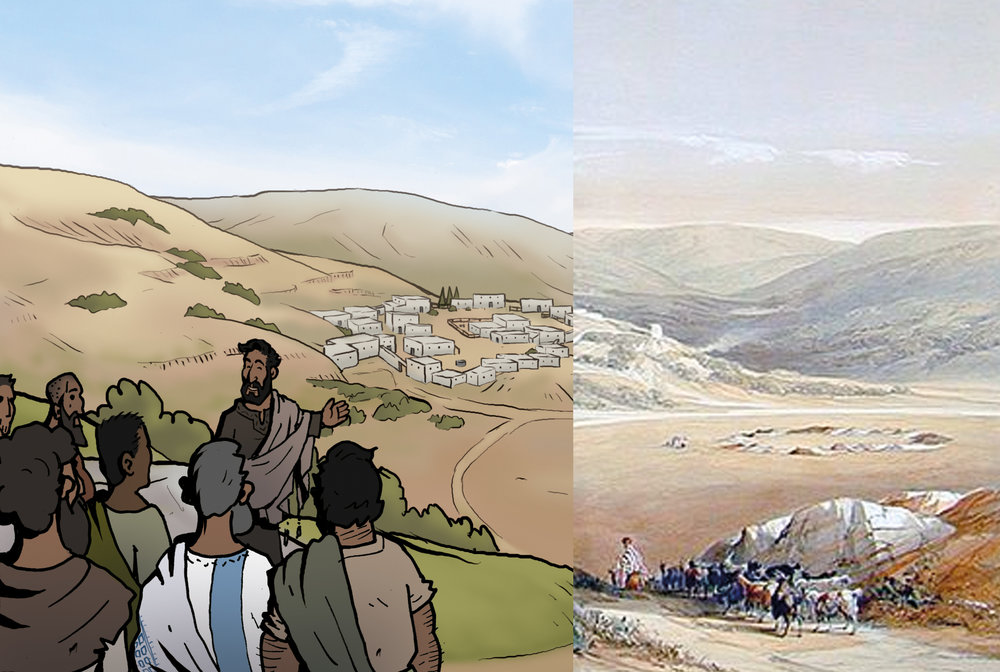 Nazareth: Drawn from photos and old paintings of the locations.