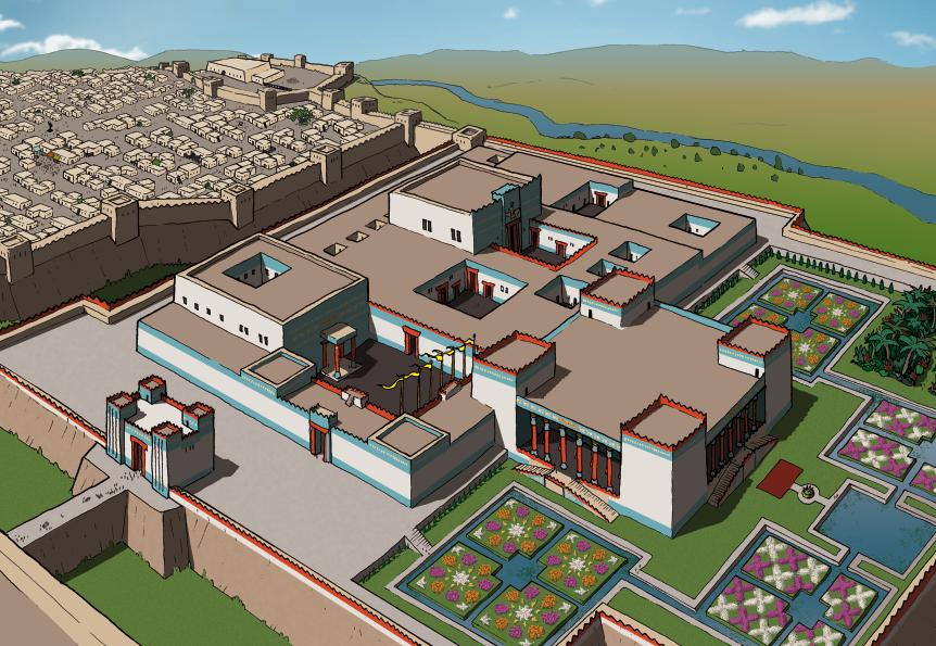 Palace of Darius and Xerxes at Susa shush Shushan Word for Word bible Comic