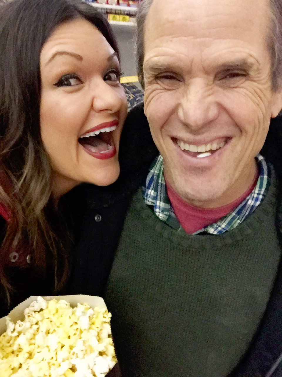 Sorry for the mouths full of gum and mints. And for the really bad theater lighting. We were very excited for Home Alone. The popcorn is probably what caused all this.