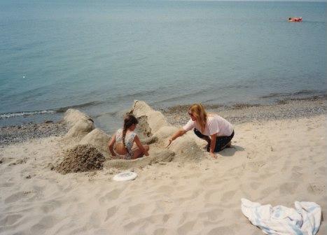 Mom and me 1988. Lake Michigan.