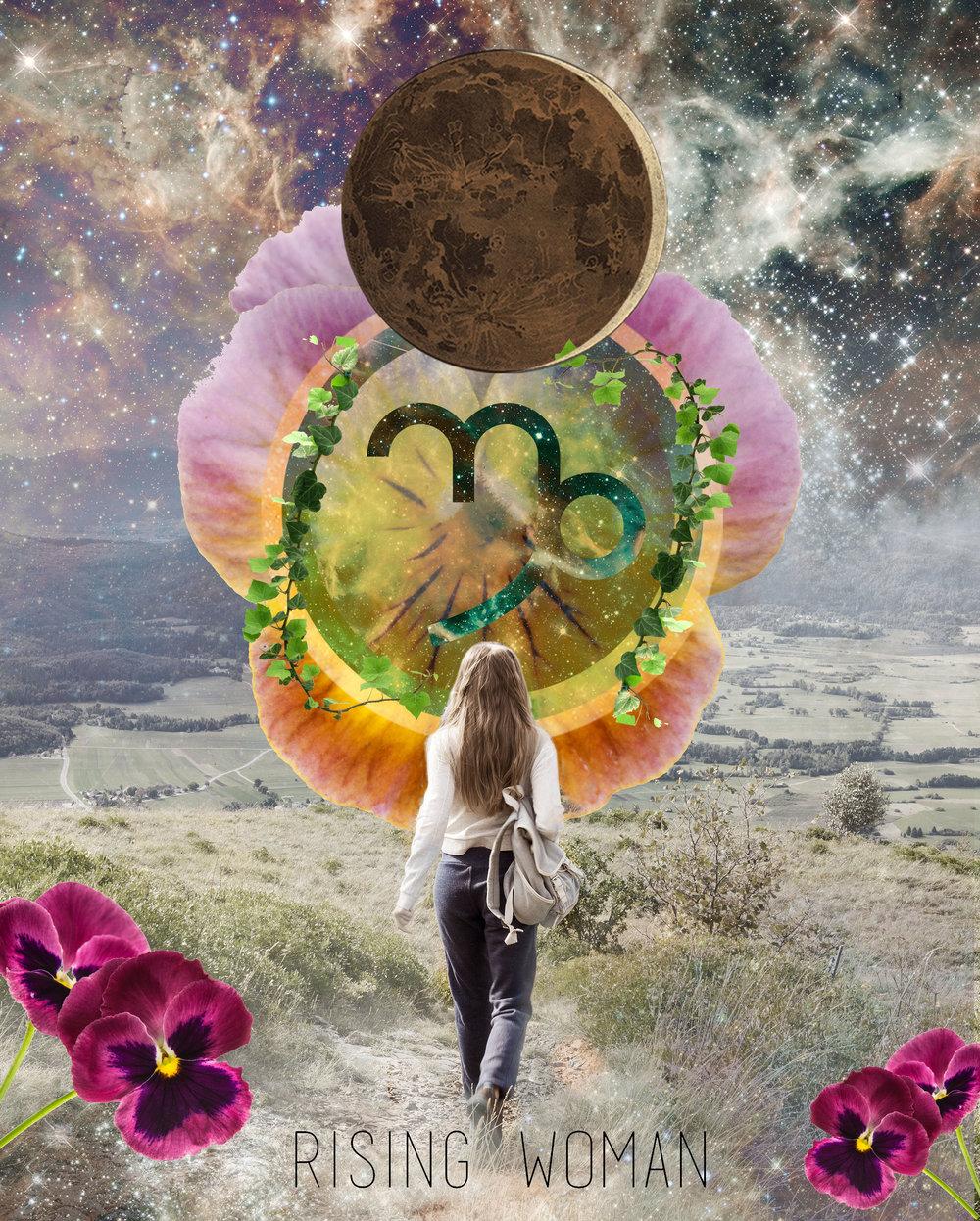 Art by Lori Menna, Cosmic Collage.