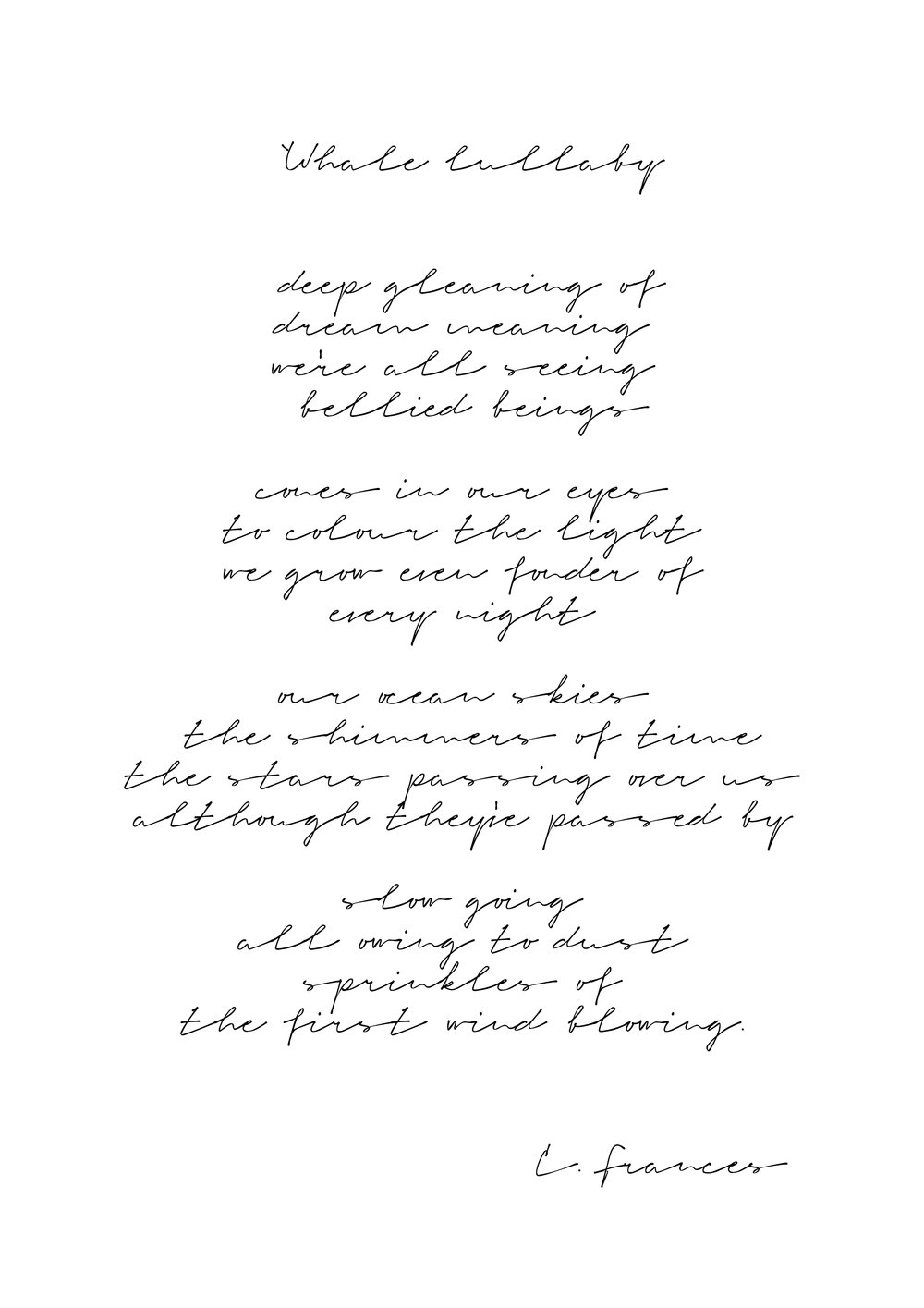 Catherine Frances - Whale Lullaby lyrics